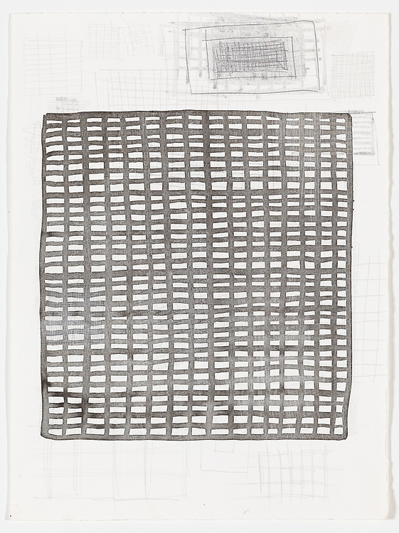 Indian ink, graphite silverpoint and acrylic on paper, 38 x 28 cm