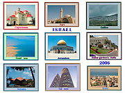9 image collage of Israel