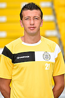 20150626 - LOKEREN, BELGIUM: Lokeren's Marco Miric pictured during the 2015-2016 season photo shoot of Belgian first league soccer team Sporting Lokeren, Friday 26 June 2015 in Lokeren. BELGA PHOTO LUC CLAESSEN