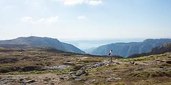 Hiking between Fløyen and Ulriken mountains, Bergen, Norway. 19/05/14. Photo by Andrew Tallon