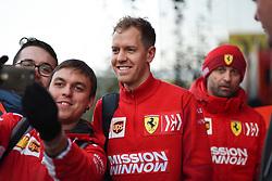 February 18, 2019 - Barcelona, Spain - German four time World Champions Sebastian Vettel of Italian team Scuderia Ferrari Mission Winnow sign autographs to fans during Barcelona winter test in Catalunya Circuit in Montmelo, Spain, on February 18, 2019. (Credit Image: © Andrea Diodato/NurPhoto via ZUMA Press)
