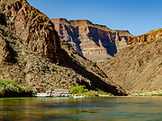 Take out our rafts at Diamond Creek at Colorado River Mile 225.9 on the Hualapai Indian Reservation, on the last of 16 days rafting 226 miles down the Colorado River through Grand Canyon National Park, Arizona, USA.