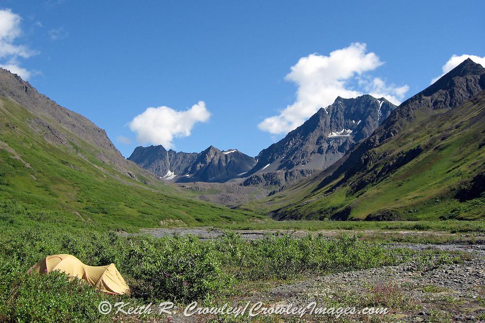 Dall Sheep Hunters Base Camp in the Chugach Mountains of Alaska