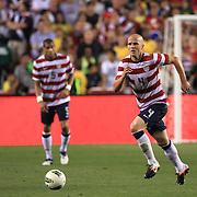 Michael Bradley, USA, in action during the USA V Brazil International friendly soccer match at FedEx Field, Washington DC, USA. 30th May 2012. Photo Tim Clayton