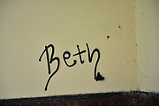 June 2014. Some graffiti just doesn't quite reach the mark . . .