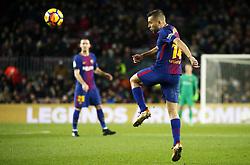 December 17, 2017 - Barcelona, Catalonia, Spain - Jordi Alba during the La Liga match between FC Barcelona v Real Club Deportivo de La Coruna, in Barcelona, on December 17, 2017. (Credit Image: © Joan Valls/NurPhoto via ZUMA Press)