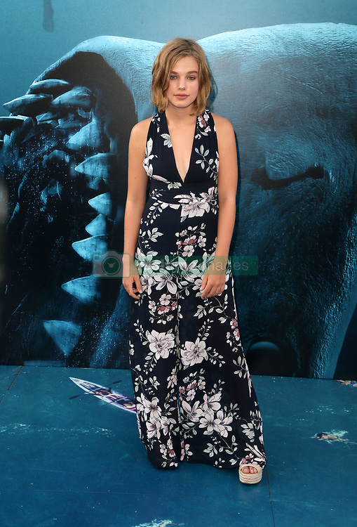 """HOLLYWOOD, CA - August 6: Cassie Scerbo, at Warner Bros. Pictures And Gravity Pictures' Premiere Of """"The Meg"""" at TCL Chinese Theatre IMAX in Hollywood, California on August 6, 2018. 06 Aug 2018 Pictured: Teagan Croft. Photo credit: FS/MPI/Capital Pictures / MEGA TheMegaAgency.com +1 888 505 6342"""