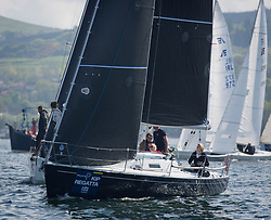Lights winds dominated the Pelle P Kip Regatta  at Kip Marine weekend of 12/13th May 2018<br /> <br /> GBR8272T, Satisfaction, Nicholas Marshall, St Mary's Loch SC, J 92<br /> Images: Marc Turner