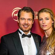 NLD/Amsterdam/20161221 - NOC*NSF Sportgala 2016, Reinder Nummerdor en partner Manon Flier