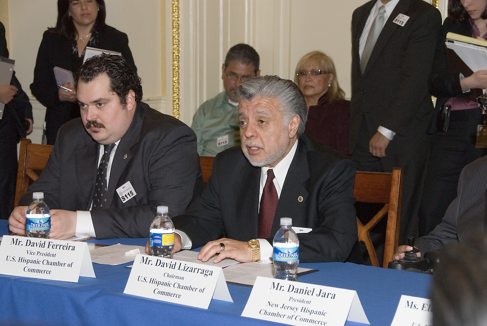 USHCCChairmanDavid C. Lizárraga speaks during a meeting with Senate Democratic Leadership at the US Capitolin conjunction withtheUnited States Hispanic Chamber of Commerce's 19th Annual Legislative Conference, in Washington, DC, Wednesday, March 11, 2009.