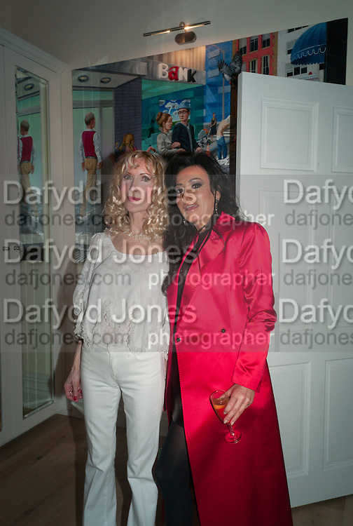NANCY DELL D'OLIO;  BASIA BRIGGS, Party given by Basia Briggs and Richard Briggs at their home in Chelsea. London. 14 May 2012