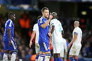 John Terry, the Chelsea captain makes his point. UEFA Champions league group G match, Chelsea v Porto at Stamford Bridge in London on Wednesday 9th December 2015.<br /> pic by John Patrick Fletcher, Andrew Orchard sports photography.