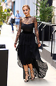 Rita Ora in Black lacy Dress
