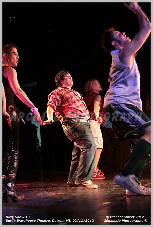 DETROIT, MI, SATURDAY, FEB. 11, 2012: Dirty Show 13, Drag King Rebellion at Bert's Warehouse Theatre, Detroit, MI, 02/11/2012.  (Image Credit: Michael Spleet / 2SnapsUp Photography)