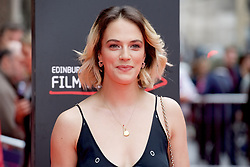 "Jessica Brown Findlay, on the red carpet at the Edinburgh International Film Festival world Premier of ""England is Mine"" at Edinburgh's Festival Theatre. Sunday, 2nd July, 2017(c) Brian Anderson 