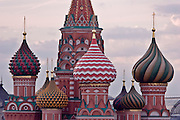 Moscow, Russia, 22/07/2006.&#xA;Saint Basil's Cathedral on Red Square at dusk.<br />