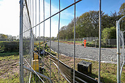 """The HS2 construction works are seen to continue with """"business as usual"""" in Crackley Woods, Coventry construction site on Tuesday, April 14, 2020. (Photo/Vudi Xhymshiti)<br /> HS2 investors are challenging Public Health England and World Health Organisation guidance which aims to curb the spread of coronavirus pandemic outbreak in Britain. Although Britain has seen over 12 thousand of its citizens dying due to Covid19 outbreak since January this year, Government has given the green light for companies to start putting spades in the ground to build a new high-speed rail line, saying work could proceed in line with coronavirus safety guidelines despite the national lockdown."""