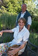 Charles and Lynda Tuckerman owners and gardeners  at Hindringham Hall, Hindringham, Norfolk, UK