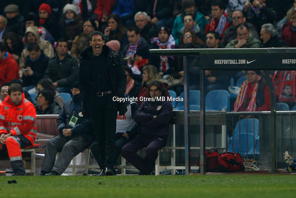 31.01.2013 SPAIN - Copa del Rey 12/13 Matchday 1/4  match played between Atletico de Madrid vs Sevilla Futbol Club (2-1) at Vicente Calderon stadium. The picture show  Diego Pablo Simeone coach of Atletico de Madrid
