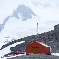 The Argentine Camara Base on Half Moon Island, Antarctica.