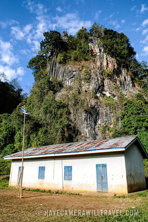 The hospital caves at the Pathet Lao Caves of Vieng Xai in Houaphanh Province in northeastern Laos. It was in these natural caves deep in karsts that the Pathet Lao leadership avoided constant American bombing raids during the Vietnam War.