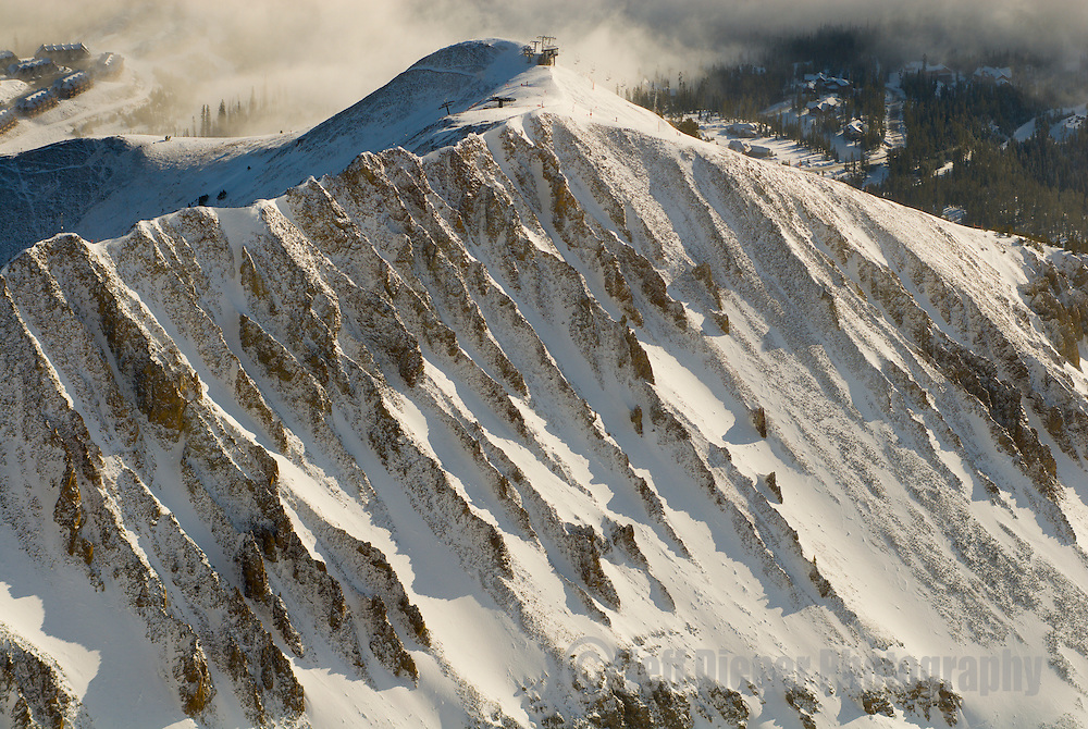 """The """"A to Z Chutes"""" at Big Sky Resort in Big Sky, Montana."""