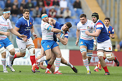 March 16, 2019 - Rome, RM, Italy - Leonardo Ghiraldini of Italy during the Six Nations International Rugby Union match between Italy and France at Stadio Olimpico on March 16, 2019 in Rome, Italy. (Credit Image: © Danilo Di Giovanni/NurPhoto via ZUMA Press)