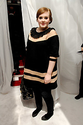 Singer ADELE ADKINS at a party hosted by PPQ of Mayfair at the Fiat Flagship Store, 105 Wigmore Street, London W1 on 11th February 2008.<br />