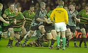 Northampton, Northamptonshire,  7th December 2002, [Mandatory Credit: Peter Spurrier/Intersport Images],Heineken European Cup - Franklin Gardens - Northampton vs Cardiff<br /> Robbie Morris