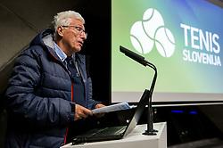 Drago Zavrsnik during General Assembly of Slovenian Tennis Federation, on December 12, 2018 in Kristalna palaca, Ljubljana, Slovenia. Photo by Vid Ponikvar / Sportida