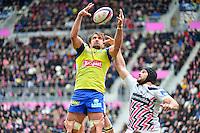 Julien PIERRE / Hugh PYLE - 28.03.2015 - Stade Francais / Clermont - 21e journee Top 14<br /> Photo : Dave Winter / Icon Sport