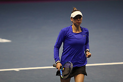 January 31, 2018 - Saint-Petersburg, Russia - Russian Federation. Saint-Petersburg. SIBUR-arena. Tennis. Tennis match. Tennis, St. Petersburg Ladies Trophy, Vera Zvonareva, Elena Ostapenko. WTA. (Credit Image: © Russian Look via ZUMA Wire)