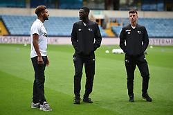 Derby County's Mason Bennett (right) Fikayo Tomori (centre) and Jayden Bogle before kick off