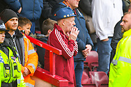 A Bradford City fan during the EFL Sky Bet League 1 match between Scunthorpe United and Bradford City at Glanford Park, Scunthorpe, England on 27 April 2019.
