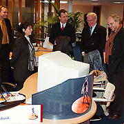 Bezoek dhr Meijer, lid raad van bestuur Rabobank Nederland aan de Beurs Huizen