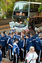 First Bus  supply trave for students at the British Schools Games held in Sheffield 1 September2011 . Image © Paul David Drabble