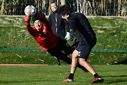 January 5, 2018 - Marbella, Spain - Standard's goalkeeper Guillermo Ochoa and Standard's keeper coach Ricardo Pereira pictured in action during the second day of the winter training camp of Belgian first division soccer team Standard de Liege, in Marbella, Spain. (Credit Image: © Yorick Jansens/Belga via ZUMA Press)