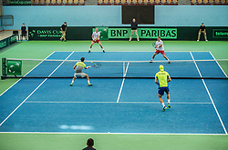 Mateusz Kowalczyk and Marcin Matkowski of Poland vs Blaz Rola and Aljaz Bedene of Slovenia  playing doubles during the Day 2 of Davis Cup 2018 Europe/Africa zone Group II between Slovenia and Poland, on February 4, 2018 in Arena Lukna, Maribor, Slovenia. Photo by Vid Ponikvar / Sportida