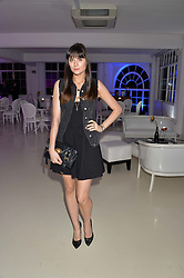 LILAH PARSONS at the OFFtheGRID event - a solar-powered party on a London rooftop to support our renewable energy future hosted by Dame Vivienne Westwood supported by the Trillion Fund at 151-155 New North Road, London N1 on 4th September 2014.