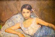 Detail of 'Reclining Woman' 1908 oil painting on canvas, Soren Onsager 1878-1946, Kode 3 art gallery Bergen, Norway
