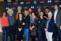 (left to right), Tejinder Jouhal (Documentary Jury), Steve Abbott (Documentary Juror) Clancy Brown (Michael Powell Juror), Rebecca Mark- Lawson (Shorts Juror), Kim Cattrall (Michael Powell Juror), Dougary Scott (International Juror)Iciar Bollain (Michael Powell Juror), Ashley Horner (Shorts Juror), Sadie Frost (International Juror), Angus Macfadyen (International Juror),  Hilary Davis (Bankside Films Shorts Juror), Matt Mueller (International Juror), join the jury line up for the 2016 Edinburgh International Film Festival at  The Apex Hotel Grassmarket, Edinburgh17th June 2016, (c) Brian Anderson | Edinburgh Elite media