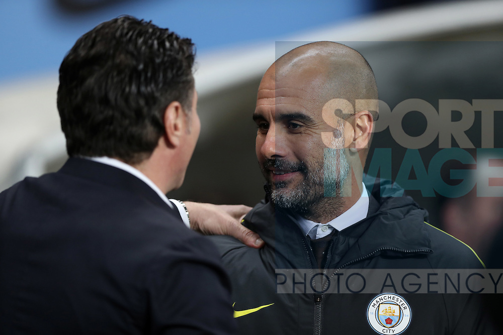 Manchester City Manager Pep Guardiola before the English Premier League match at The Etihad Stadium, Manchester. Picture date: December 12th, 2016. Photo credit should read: Lynne Cameron/Sportimage