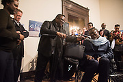 DAVID BAILEY, SIR NICHOLAS SEROTA, ISAAC JULIEN; YINKA SHONIBARE Diaspora Pavilion LAUNCH  Palazzo Pisani and Santa Marina. Venice Biennale, 11 May 2017