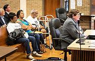 Geraldine Mayho, Sharon Lavigne and Milton Cayette, Jr. at the March 25, St. James Parish Council Meeting in Convetn, Louisiana at a hearing about Wanhua Chemical plant.