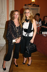 Left to right, CLEMMIE HAMBRO and CAMILLA LONG at a party to celebrate the publication of 'A Much Married Man' by Nicholas Coleridge held at the ESU, Dartmouth House,  37 Charles Street, London W1 on 4th May 2006.<br />