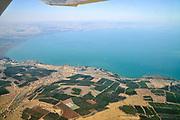 Aerial view of the Sea Of Galilee, Israel