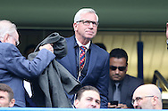 Alan Pardew, the Crystal Palace manager looking on from the stands before k/o. Premier league match, Chelsea v Leicester city at Stamford Bridge in London on Saturday 15th October 2016.<br /> pic by John Patrick Fletcher, Andrew Orchard sports photography.