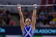 Mcc0055084 . Daily Telegraph<br /> <br /> Scotland's Daniel Keatings on the High Bar whilst competing in the Artistic Gymnastics Men's Team Finals on Day 6 of the 2014 Commonwealth Games in Glasgow today .<br /> <br /> 29 July 2014