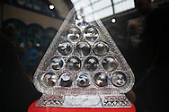 the Paul Hunter Masters Trophy on display before the game.Ronnie O'Sullivan v Liang Wenbo, 1st round match at the Dafabet Masters Snooker 2017, day 1 at Alexandra Palace in London on Sunday 15th January 2017.<br /> pic by John Patrick Fletcher, Andrew Orchard sports photography.