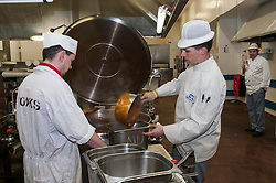 Prisoners working in the canteen, HMP Barlinnie, Glasgow